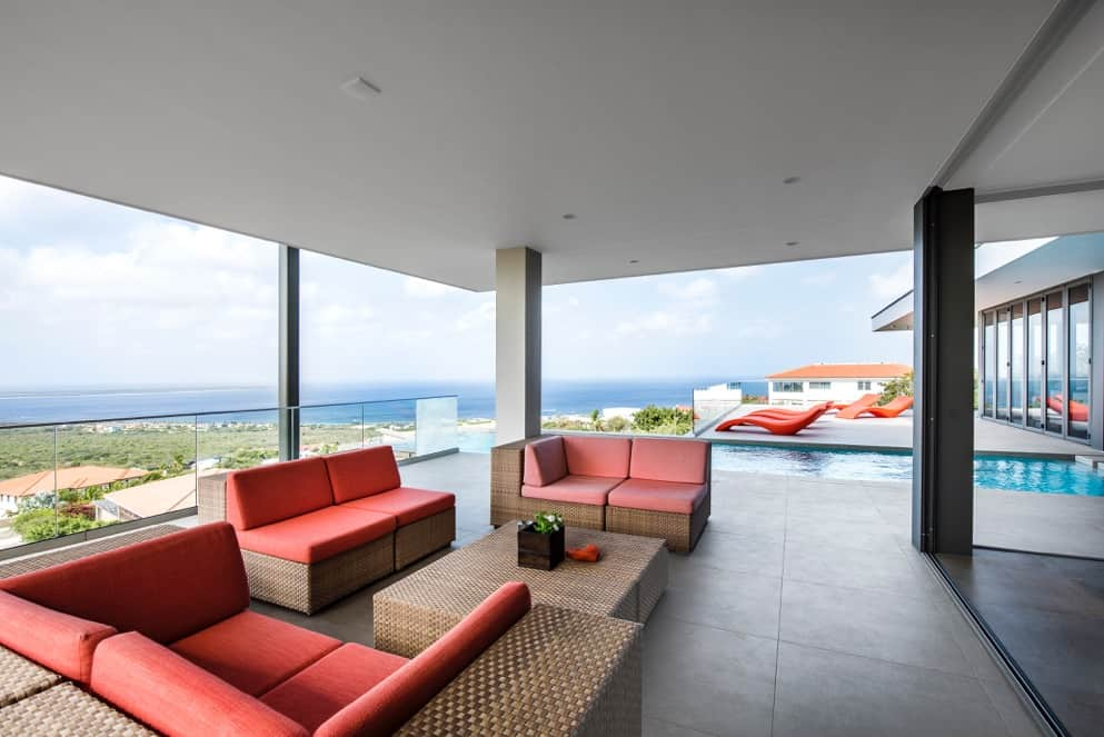 Luxury villa with panoramic views of the Caribbean