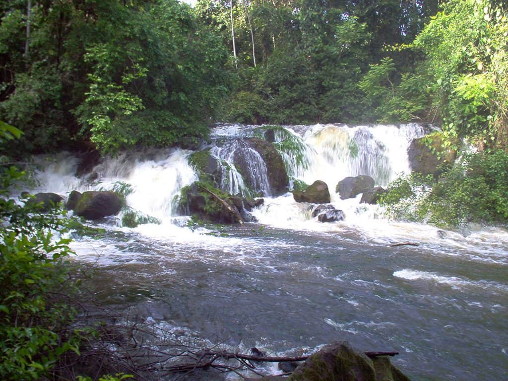 Raleigh falls in central Suriname nature reserve