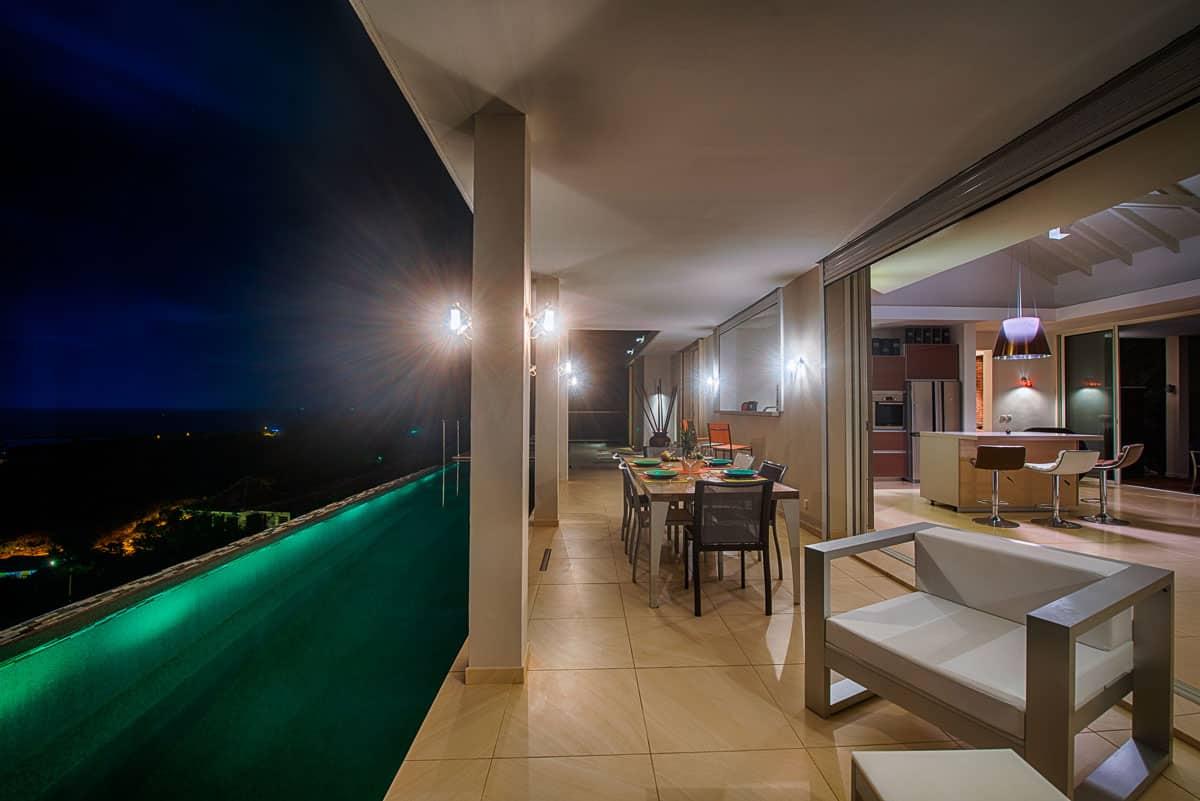 Sunrise night terrace