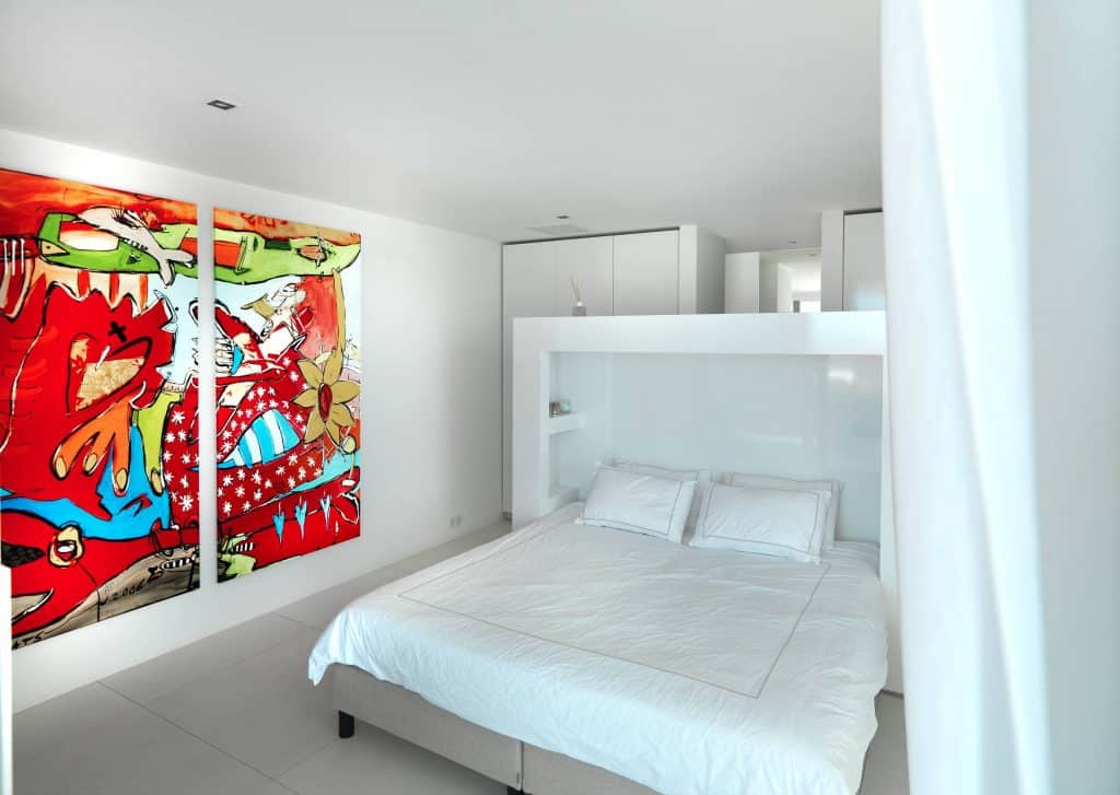 bedroom poolside