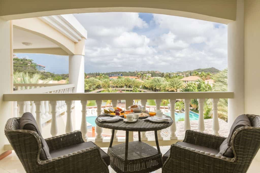 Breakfast with pool view Acoya Curacao