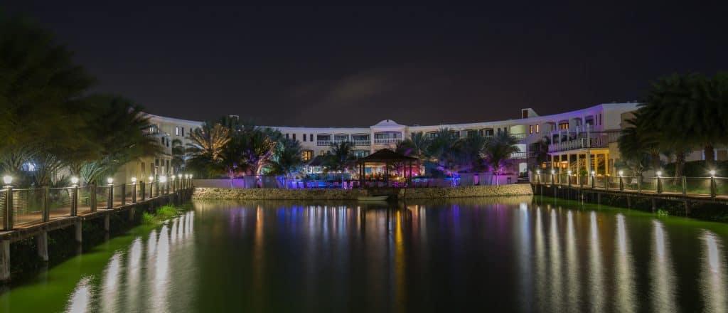 Lake view at night Acoya Curacao