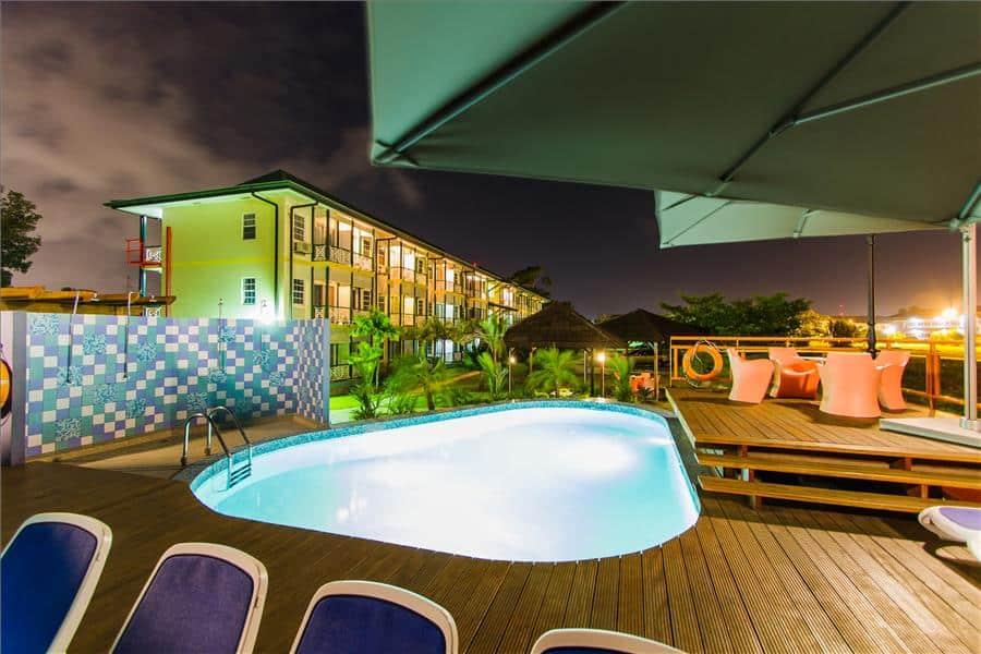 Eco Resort, Pool Night