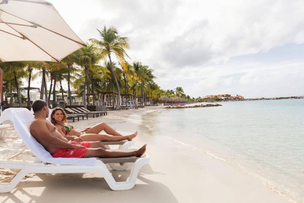 Couple at Mambo Beach Acoya Curacao