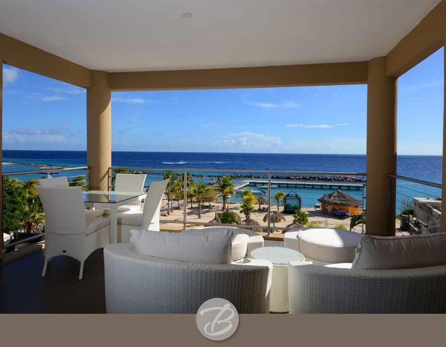 The beach house Curacao balcony