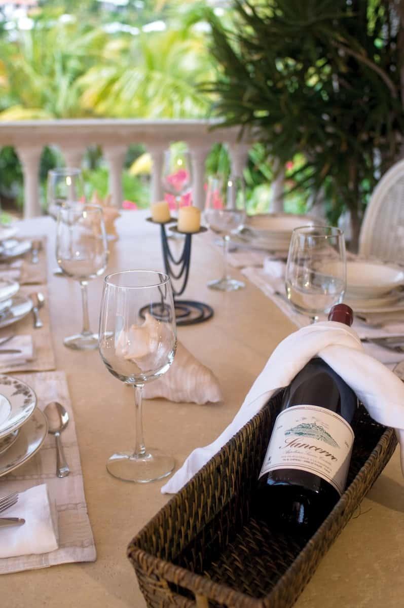 Belle Mer Dining Detail