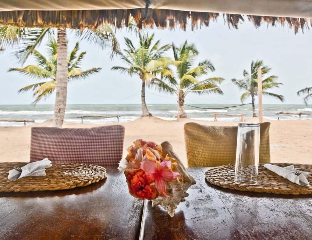 beachside meal