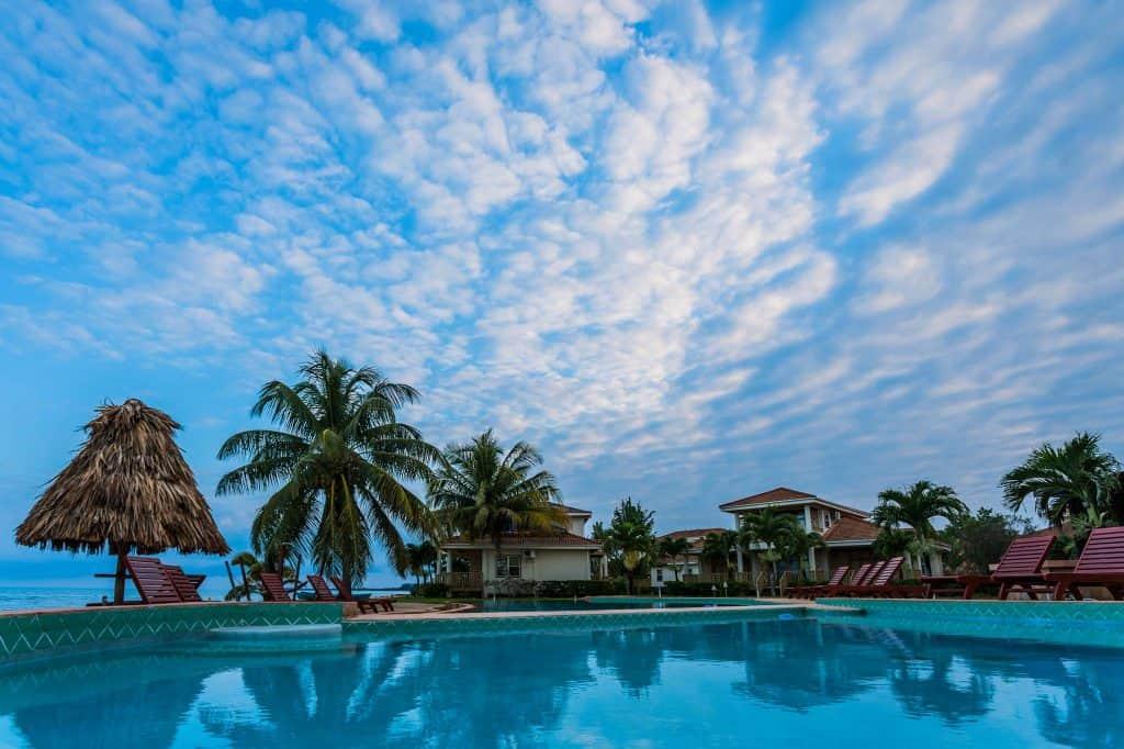 pool and sky