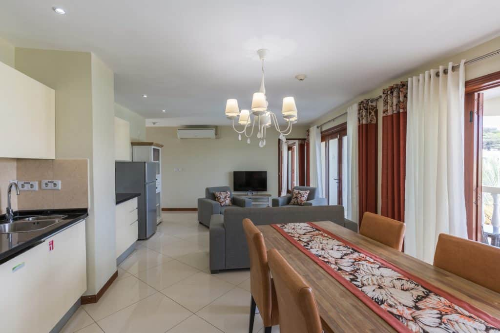 Apartment living, kitchen & DIning Acoya Curacao