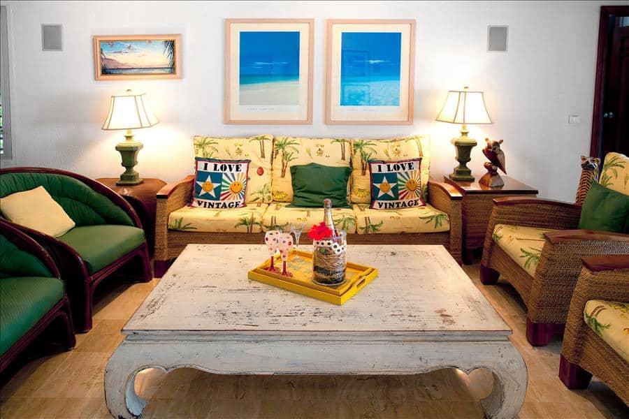 Baie Longue Beach House Living Detail