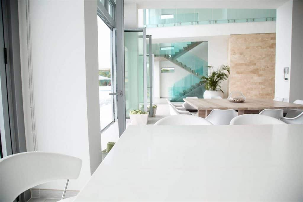 Aruba Beachfront Estate dining table