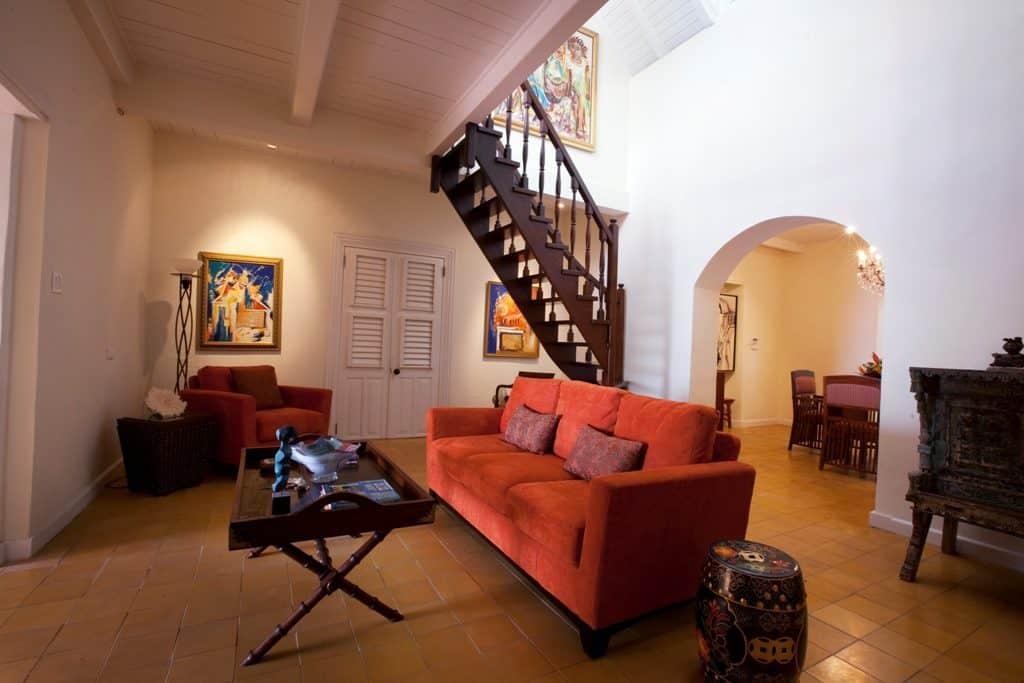 the main house living area