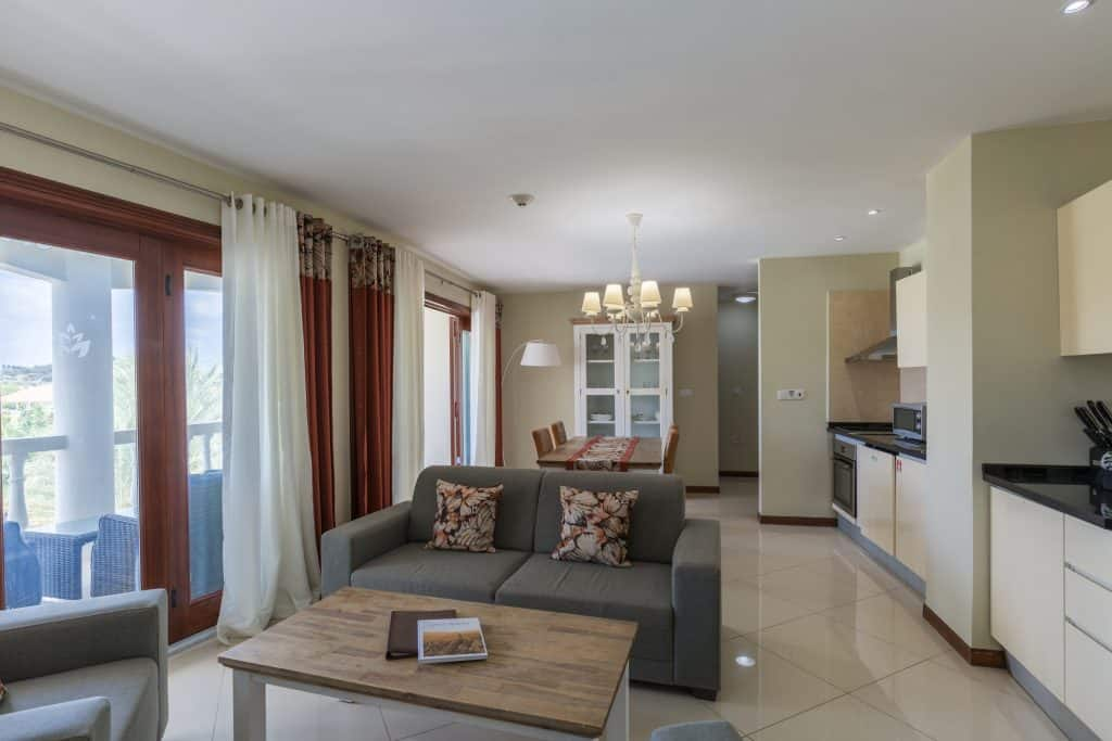Apartment Living, kitchen & Balcony Acoya Curacao