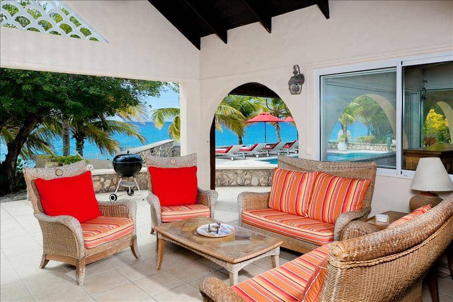 Baie Longue Beach House Outside Living
