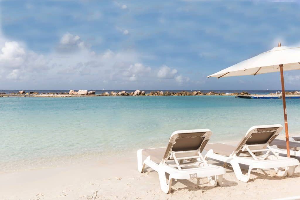 Mambo Beach with chairs Acoya Curacao
