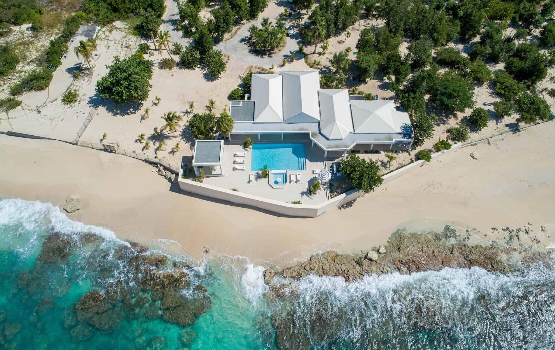 Droneshot Villa Ecume des Jours St Martin