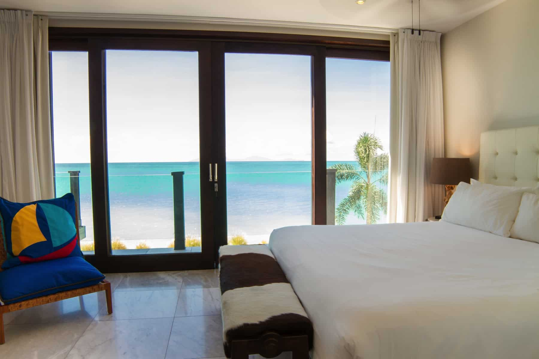 ocean view in bedroom