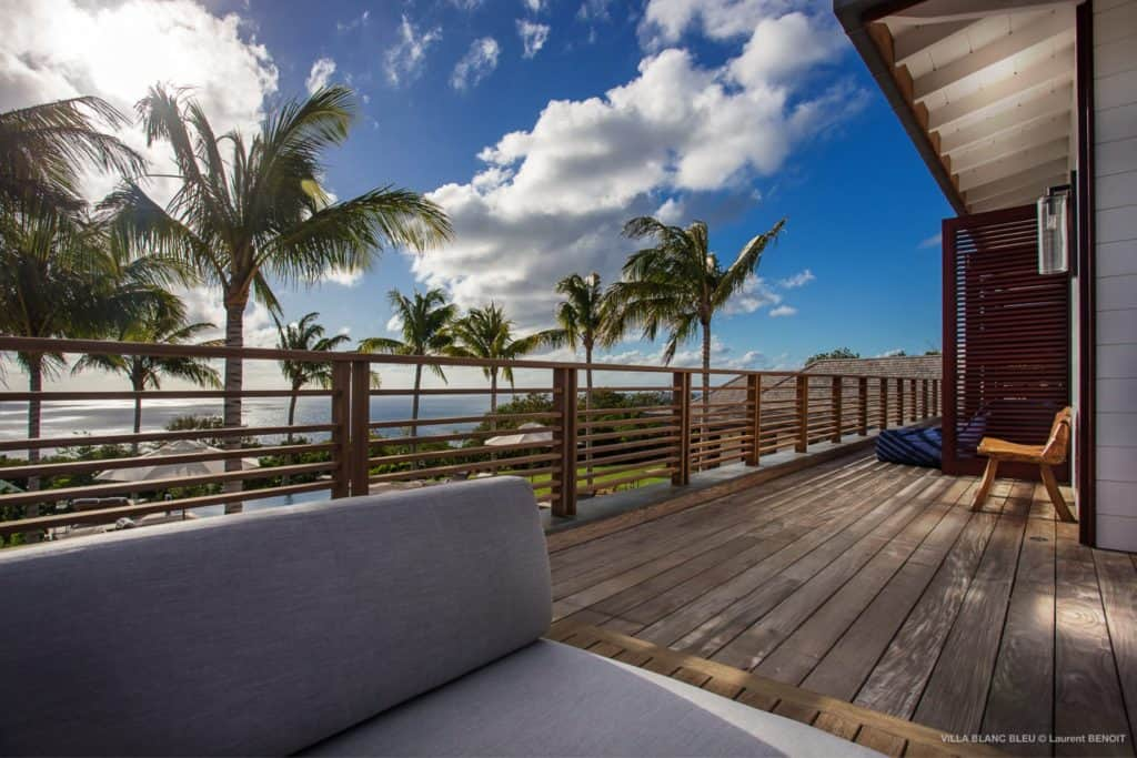 Balcony Villa Blanc Bleu St Barths