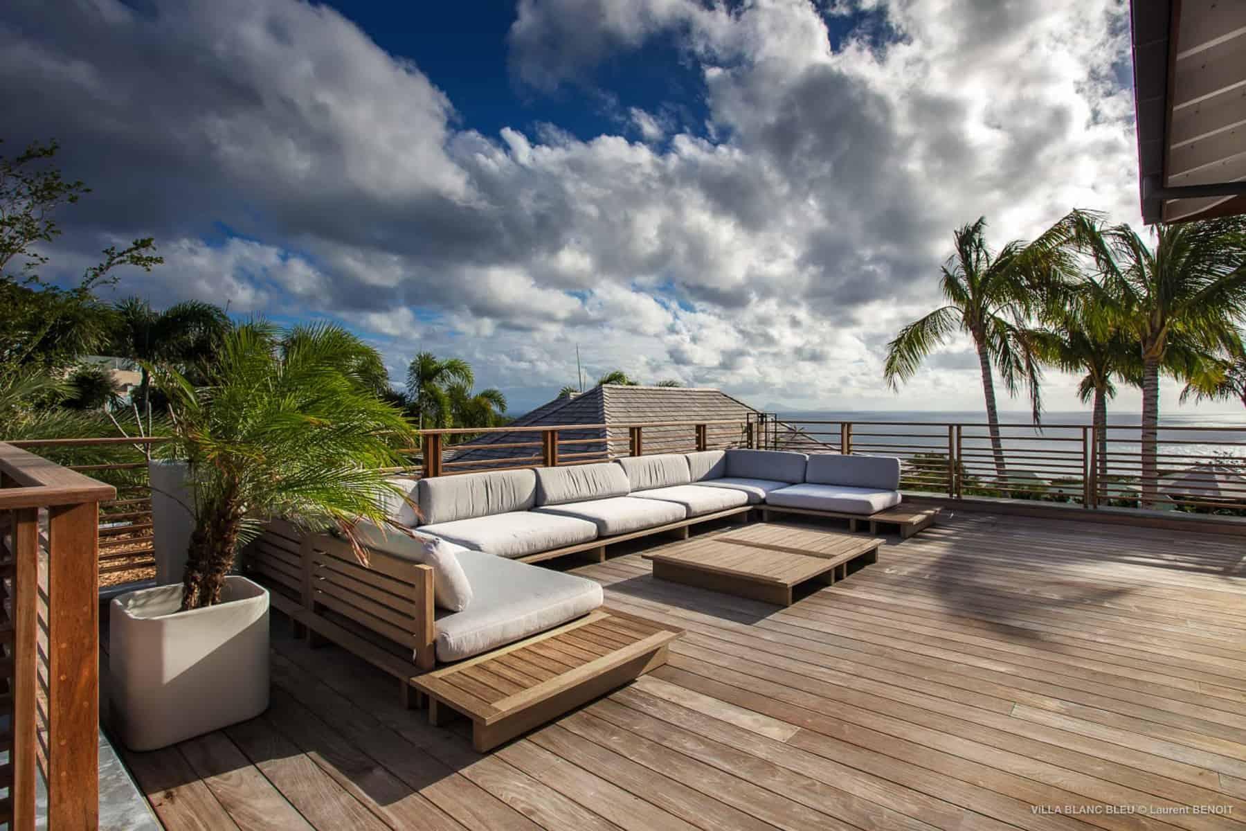 Lounge chair Villa Blanc Bleu St Barths