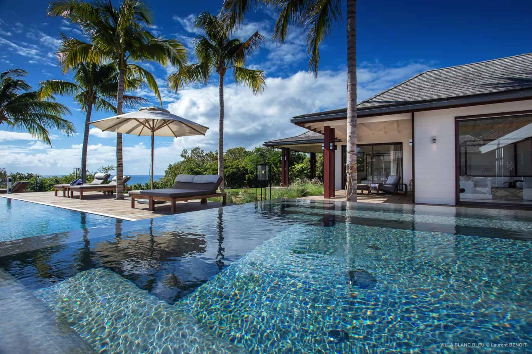 Pool View Villa Blanc Blue St Barths