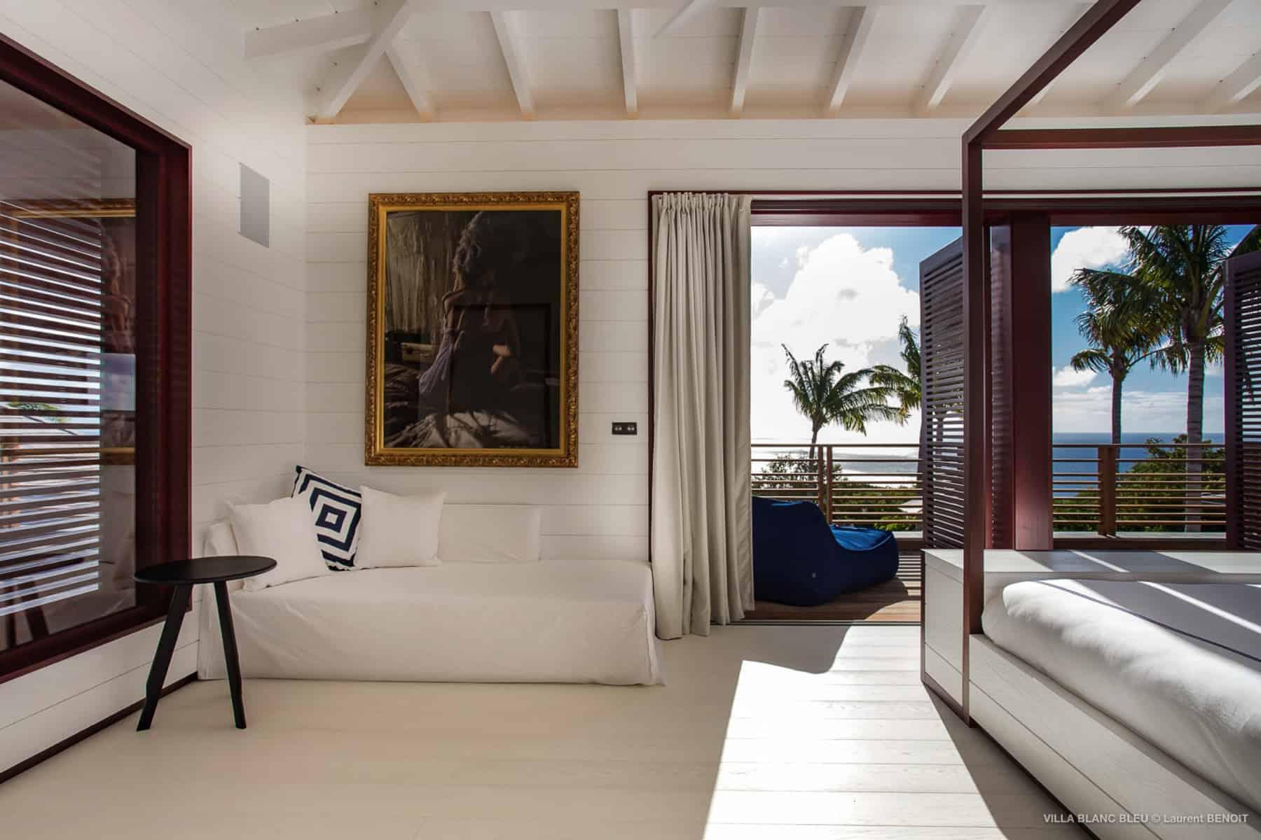 Couch Villa Blanc Bleu St Barths