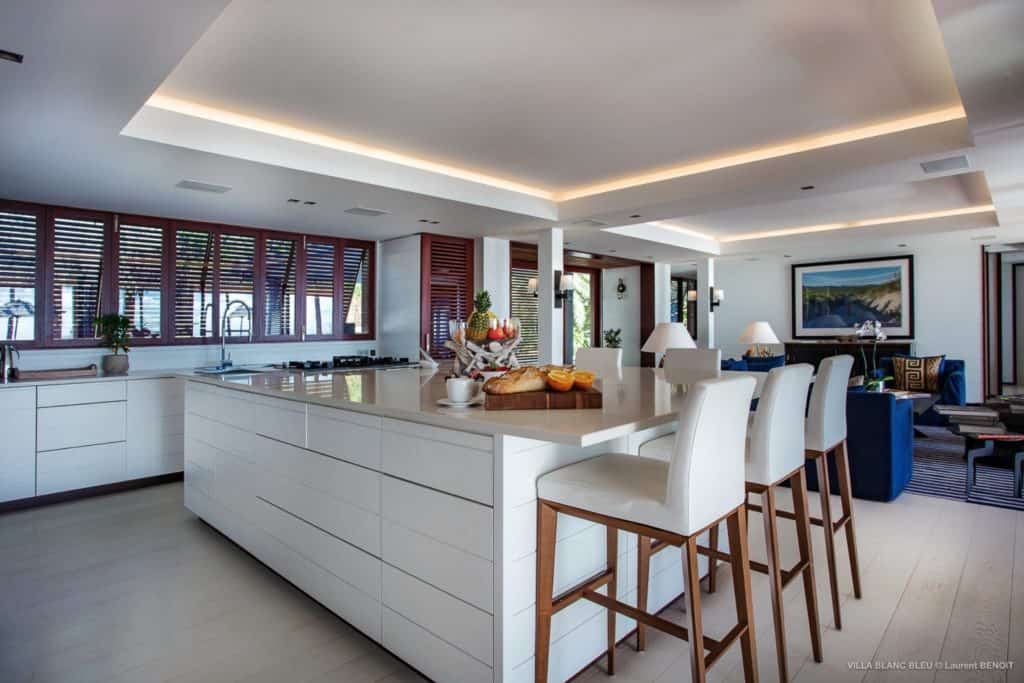 Kitchen Villa Blanc Bleu St Barths