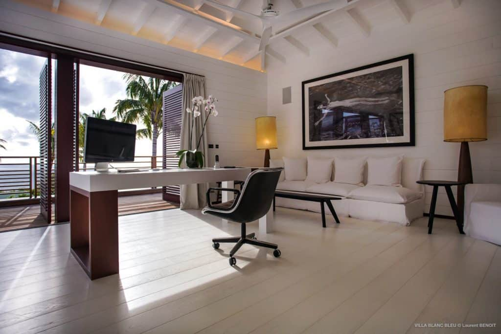 desk Villa Blanc Bleu St Barths