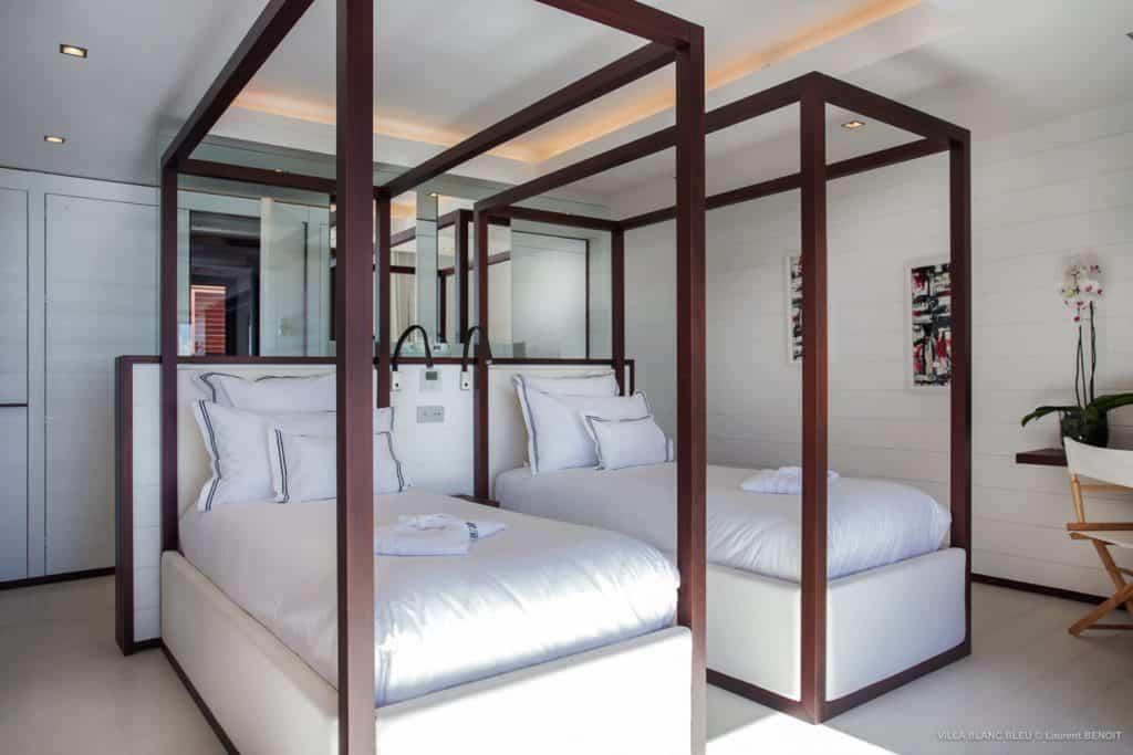 bedroom Villa Blanc Bleu St Barths