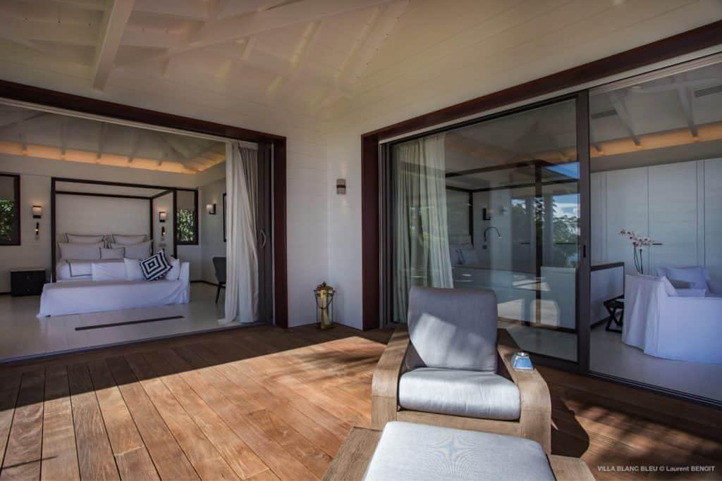 Bedrooms Villa Blanc Bleu St Barths