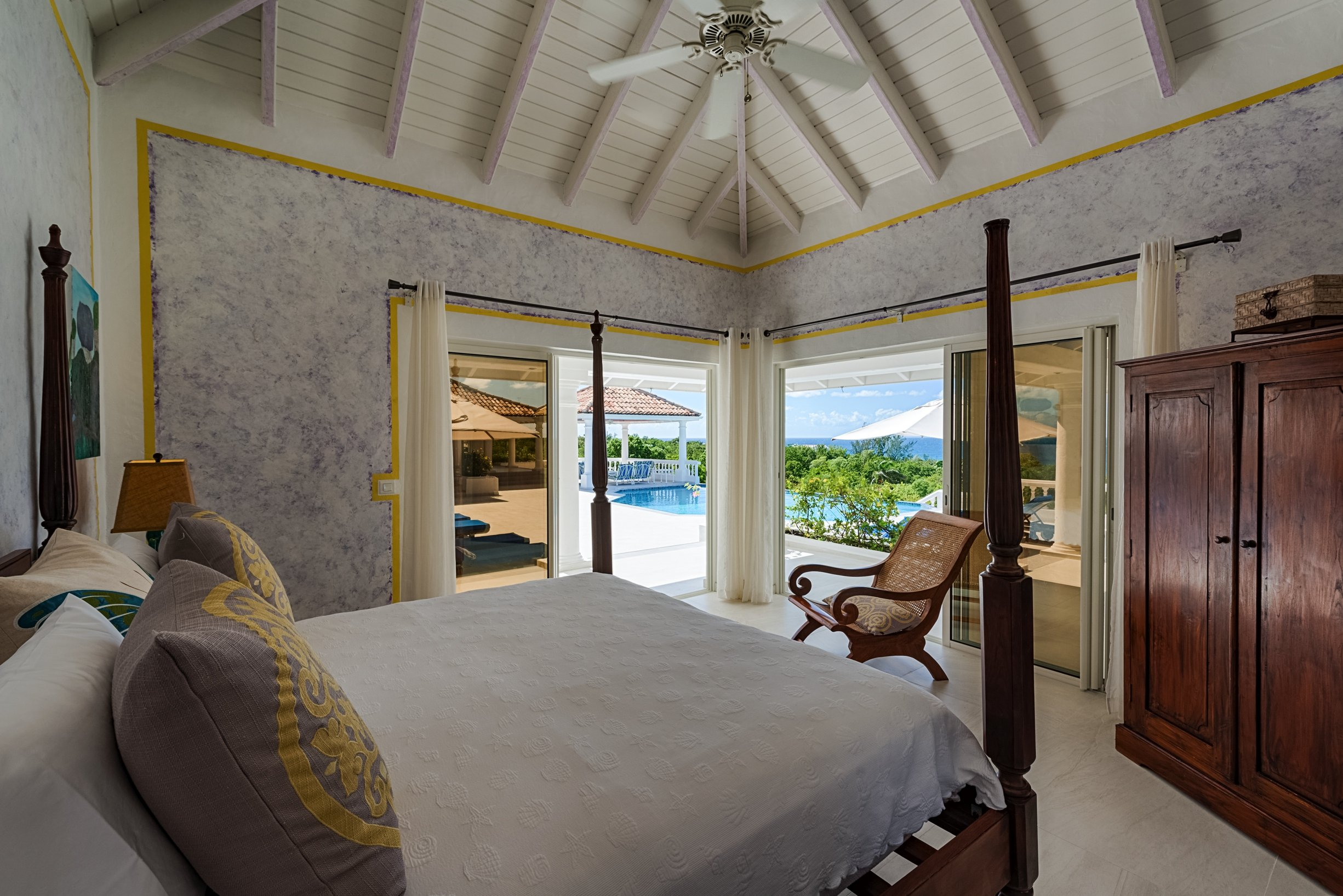 Luxury 12 bedroom Caribbean Estate for rent overlooking Baie Longue Beach St. Martin