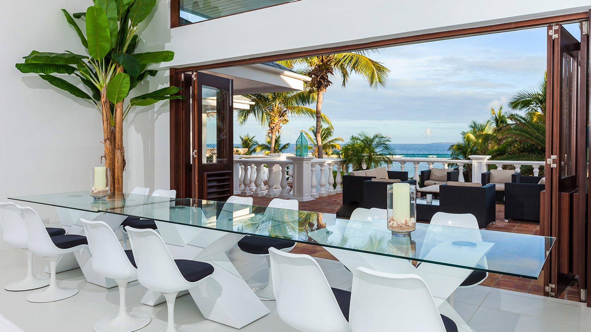 Indigo Villa Anguilla Rental Properties in Paradise dining