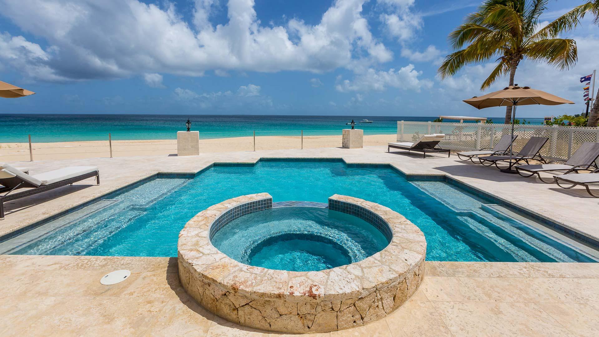 frangipani villa pool deck